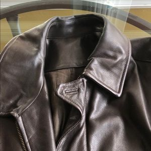 Vince Men's Brown leather Bomber